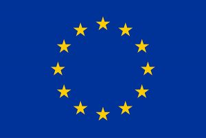 EU logo and European Union flag